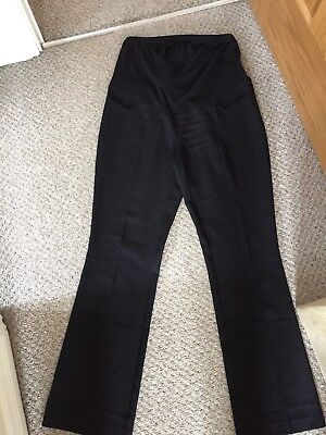 New Look Maternity Black Trousers Size 14L Over Bump Workwear
