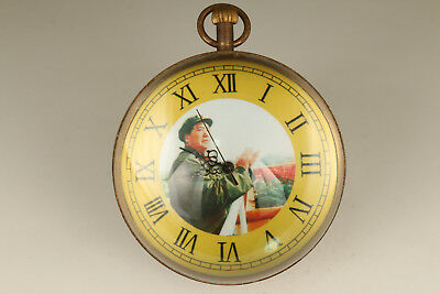 Big Chinese Old Copper Hand Carved crystal Machinery Statue clock pocket watch