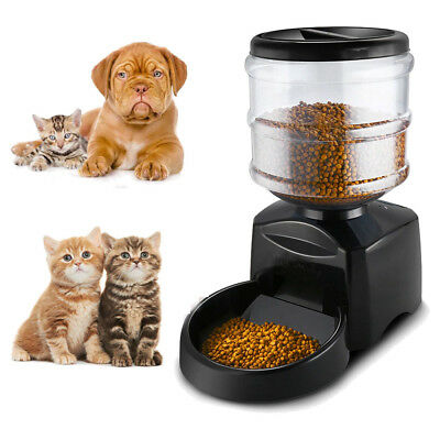 5.5L Automatic Pet Feeder LCD Screen Voice Message Recording Food Dispenser Bowl