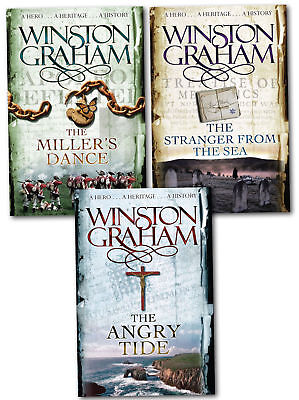Winston Graham Poldark Series Trilogy 3 Books Set Pack 7, 8, 9,Collection NEW PB