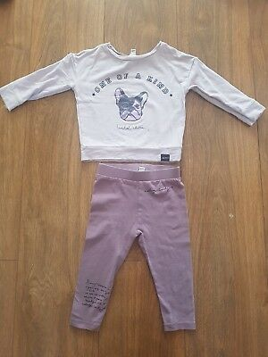 River Island Mini Baby Girls 9-12 Months Outfit
