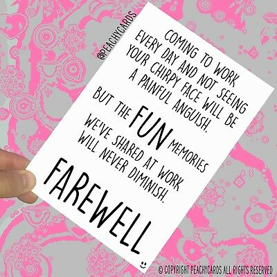 Leaving Cards New Job Cards Colleague Card Coworker Card Gift Bye Farewell PC598