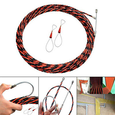 Electrician Wire Threading Device Binders Cable Puller Aid Tool 5-50 M Red