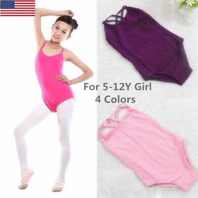 US Kids Girls Sleeveless Ballet Dance Clothes Gymnastic Leotard Costume Bodysuit