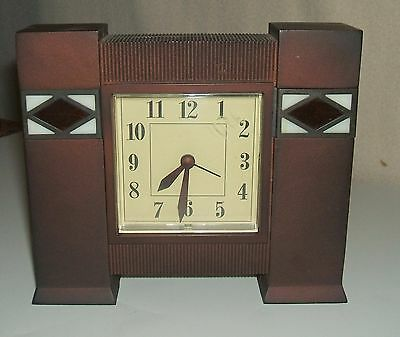 Robert Abbey Bakelite and Leaded Glass Alarm Clock, Vintage, Free Shipping