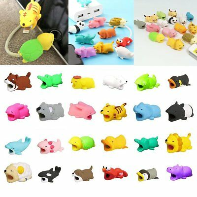 Cartoon USB Charging Cable Animal Biting Wire Protector Cord Protection Cover