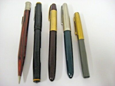 Mixed Lot of Vintage Parker EVERSHARP WEAREVER Fountain Pens & Mechanical Pencil
