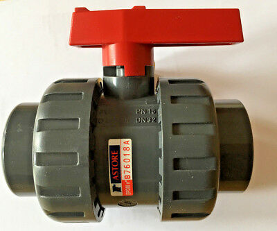 High Quality PVC U Ball Valves Solvent Weld Double Union  32mm
