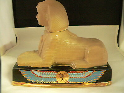 Ezra Brooks Whiskey Decanter-----Sphinx