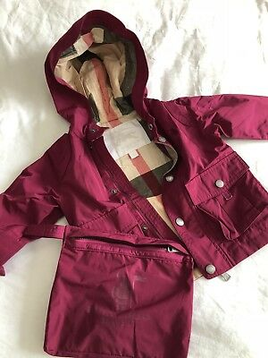 Burberry baby Girl Jacket Size 12months