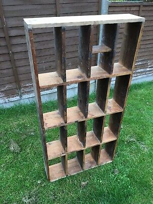 Antique Pigeon Hole Shelving Unit