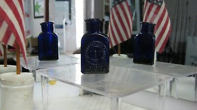 "*killer*  2 Oz. Kt-14 Cobalt Blue~Pictorial ""the Bee Poison"" Bottle~"