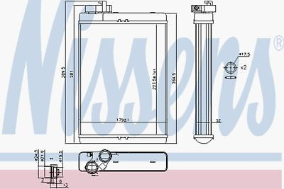 Nissens Heat Exchanger 70231 Fit with Audi A5