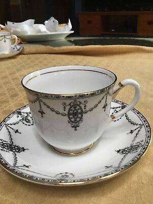 S & C Shore & Coggins Bone China Cup and Saucer #1231