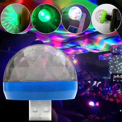 USB Mini LED Disco Stage Light Party Club DJ KTV Magic Lamp Ball For Phone Grace