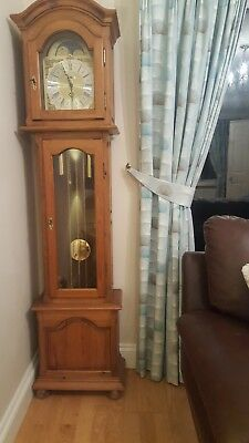 Grandmother clock made by Richard Broad in Oak Ducal Pine effect