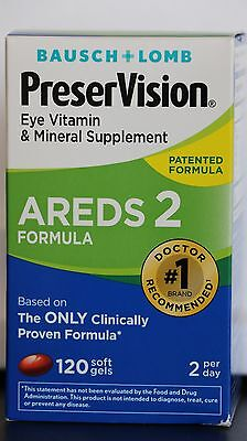 PreserVision Eye Vitamin AREDS 2 Formula Soft Gels 120 FREE SHIP!