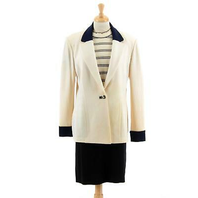 ST JOHN Collection by Marie Gray Women's 3 Pc Knit Suit Blazer Shirt Skirt Sz 12