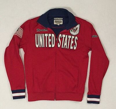 MONDETTA United States - Athletic Jacket, Red, White, & Blue - Full Zip,  S