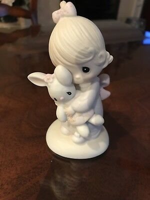 Precious Moment Figurine With Bunny