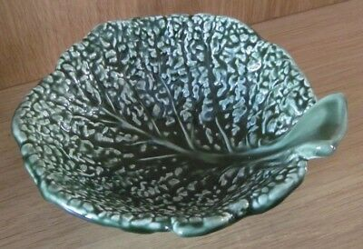 Poole Pottery Green Cabbage leaf bowl - Unusual. Excellent condition
