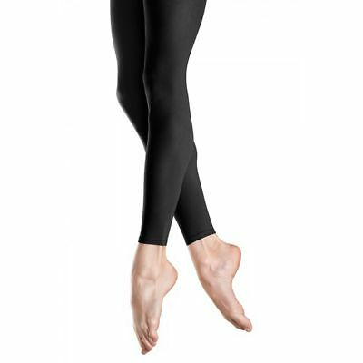 2 PACK of NEW Bloch Black Footless Tights, TO940G, Medium Child 6-8