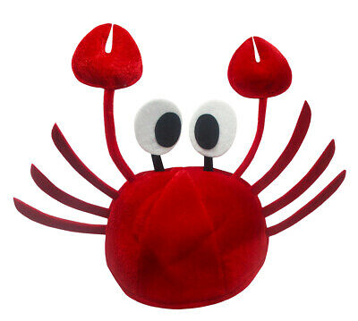 Deluxe Red Lobster Crab Costume Hat Seafood Crayfish Sea Animal/_Cap K3R9