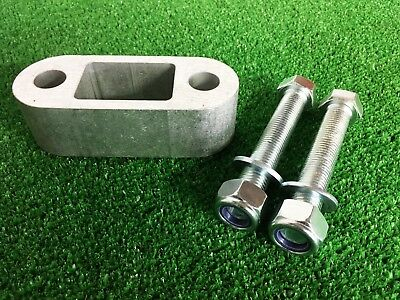 """Tow Bar Towball Spacer  1.5"""" (38MM)  & 90mm Long Bolts Nyloc Nuts & Washers"""