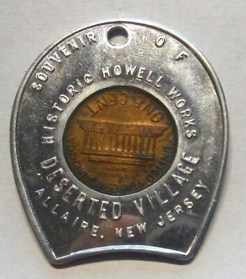 Allaire New Jersey Historic Howell Works Deserted Village 1968-D Encased Cent