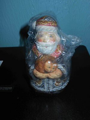G. DeBrekht Purrfectly Santa. #51781-71. Box used, item is new. With cert.