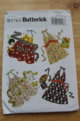 Butterick Sewing Pattern B5765  retro aprons size sml-med-lge