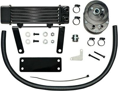 Jagg Lowmount 6-Row Oil Cooler System Black Non-ABS #750-1290 Harley Davidson