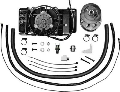 Jagg Lowmount Fan-Assisted 10-Row Oil Cooler System #751-FP2400 Harley Davidson