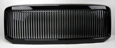 Ford Super Duty 05-07 & Excursion Vertical Black Front Hood Bumper Grill