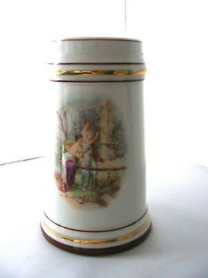 Vintage porcelain beer stein with nice lithopane