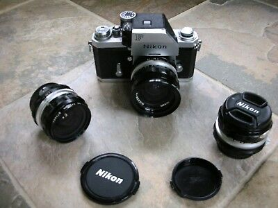 Nikon F 35mm Film Camera with 24mm,28mm and 50mm Lens