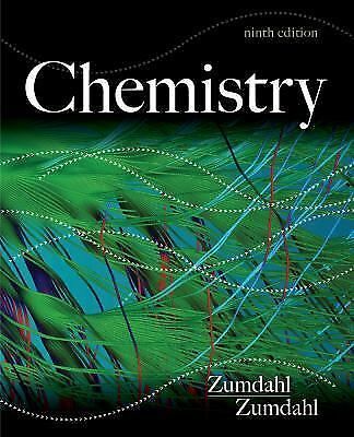 Chemistry by Susan A. Zumdahl 9th Edition - 2013, Hardcover