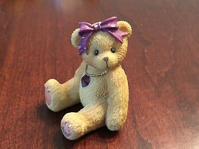 Cherished Teddies February Amethyst Birthstone Bear 1996
