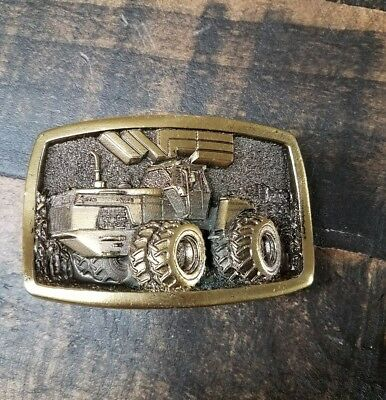 Limited Edition 4 Wheel Drive White Tractor Field Boss Belt Buckle New Old Stock
