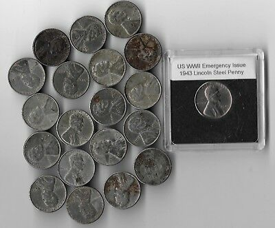 Rare Very Old wwii us Collection Vintage Steel Penny usa ww2 Big 20 Coin War Lot
