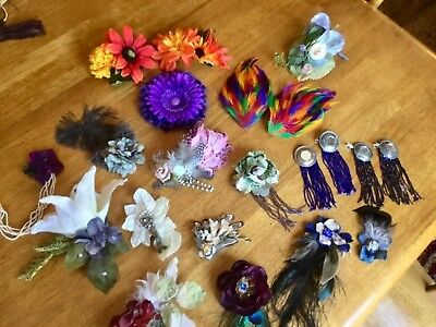 Belly Dance/costume hair flowers and headbands