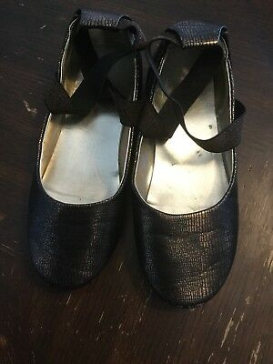 kenneth cole reaction Youth Girls Sz/1.5M Bronze Ballet Shoes W Bronze Elastic
