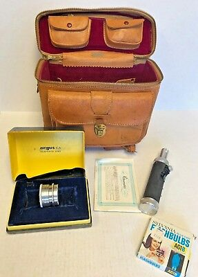 Vintage Tan Pigskin Leather Camera Case Made In Japan