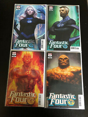 "Fantastic Four #1 (2018) Stanley ""Artgerm"" Lau Variant Set of Four"
