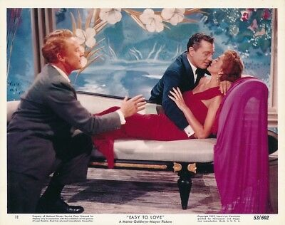 ESTHER WILLIAMS TONY MARTIN Original Vintage 1953 EASY TO LOVE MGM Color Photo