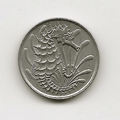 World Coins - Singapore 10 Cents 1981 Coin KM# 3 ; Seahorse