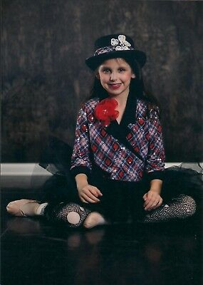 Revolution black and red dance costume with hat in child large