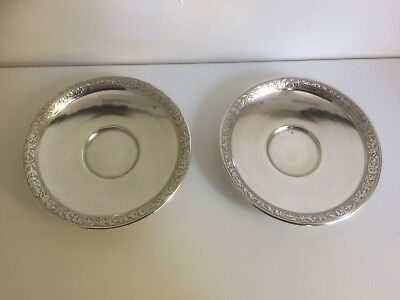 Pair of Antique French Sterling Silver Dishes - V Boivin, Paris