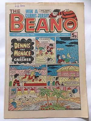 DC Thompson THE BEANO Comic. Issue 1877 July 8th 1977 **Free UK Postage**