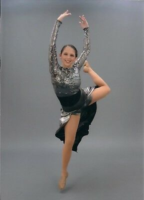 Weissman silver sequin dance costume in adult small